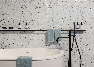 En paredes baño
