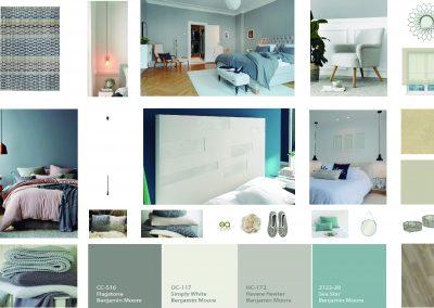 Moodboard dormitorio